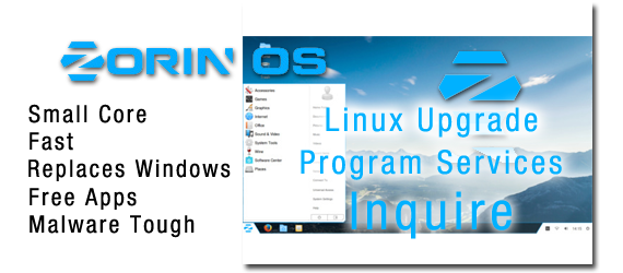 Windows to Linux conversion service banner
